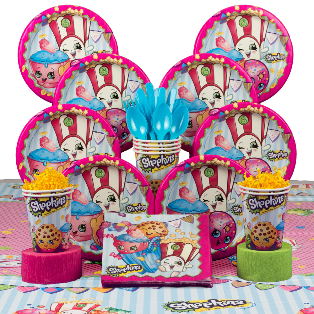 Shopkins Birthday Party Deluxe Tableware Kit Serves 8 BBKIT1076A