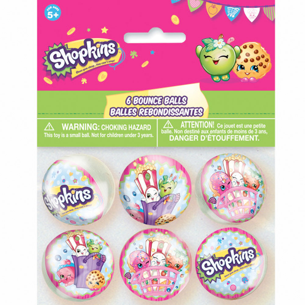 Shopkins Bounce Balls (6 Count) BB42889