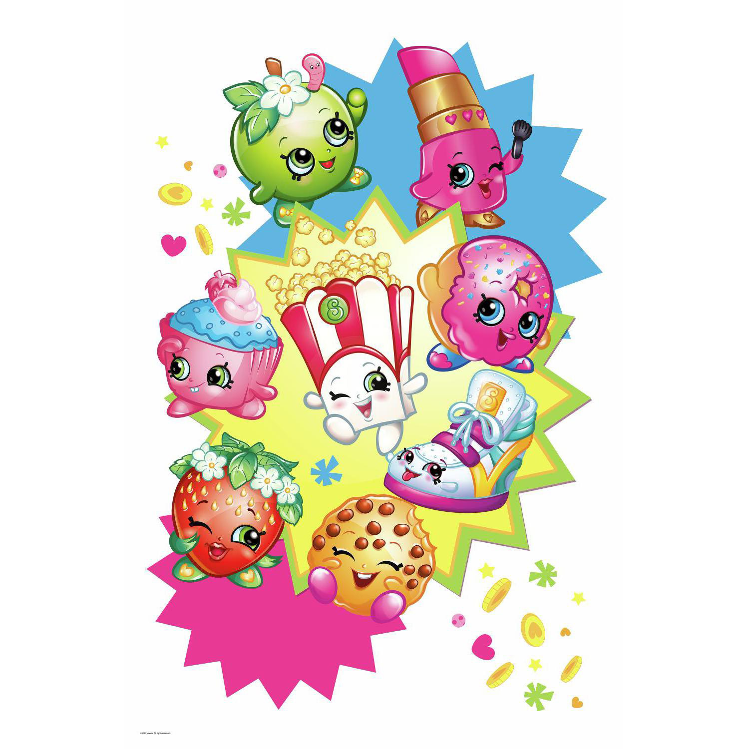 Shopkins Burst Peel and Stick Giant Wall Decal (Each) BBRMK3156TB