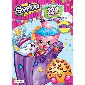 Shopkins Coloring and Activity Book (224 Pages)