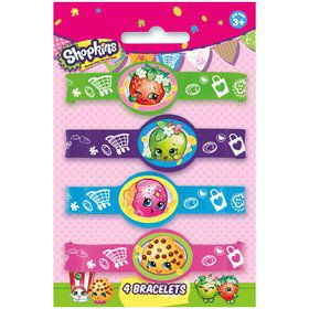 Shopkins Stretchy Bracelets (4 Count)