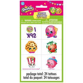 Shopkins Tattoo (4 Sheets)