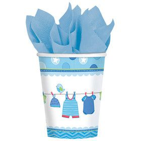 Shower With Love Baby Boy 9oz Cups (8 Count)