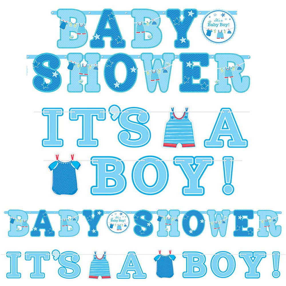 shower with love baby boy banner signs 2 count banners and party