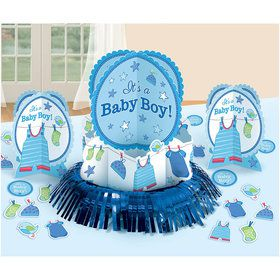 Party supplies decorations table birthday in a box for Baby boy shower decoration kits