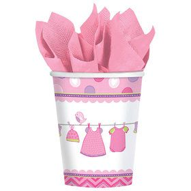 Shower With Love Baby Girl 9oz Cups (8 Count)