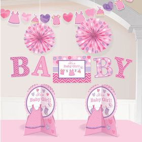Shower With Love Baby Girl Room Decorating Kit (Each)