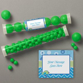 Shower With Love Blue Personalized Candy Tubes (12 Count)