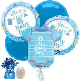 Shower With Love Boy Baby Shower Balloon Bouquet Kit