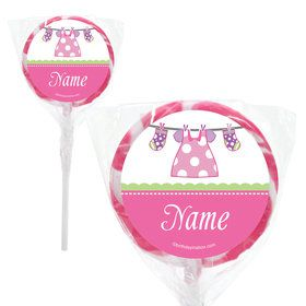 "Shower With Love Pink Personalized 2"" Lollipops (20 Pack)"