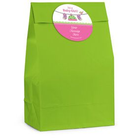 Shower With Love Pink Personalized Favor Bag (12 Pack)