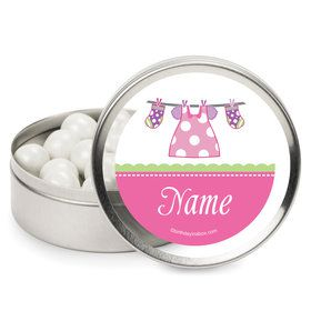 Shower With Love Pink Personalized Mint Tins (12 Pack)