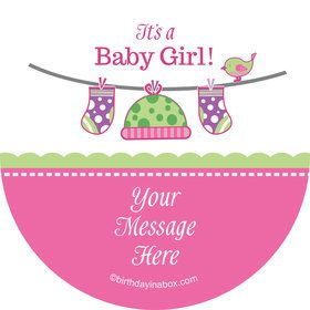 Shower With Love Pink Personalized Stickers (Sheet of 12)
