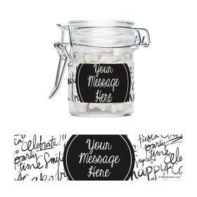 Signature Birthday Personalized Swing Top Apothecary Jars (12 ct)
