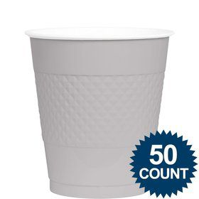 Silver 12oz. Plastic Cup (50 Pack)