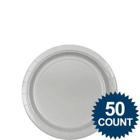 "Silver 7"" Cake Plates (50 Pack)"