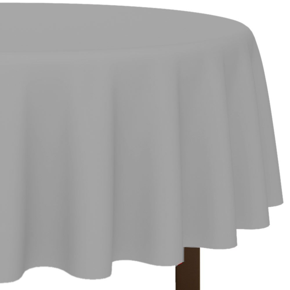 """Silver 84"""" Round Table Cover (Each) BB7701818"""