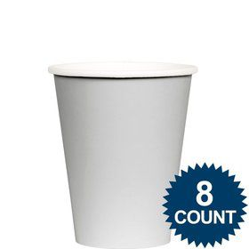 Silver 9 oz. Paper Cup, 8ct.