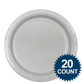 "Silver 9""? Paper Plates (20 Pack)"