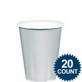 Silver 9oz. Paper Cups (20 Pack)