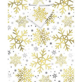 Silver and Gold Snowflake Medium Gift Bag (1)