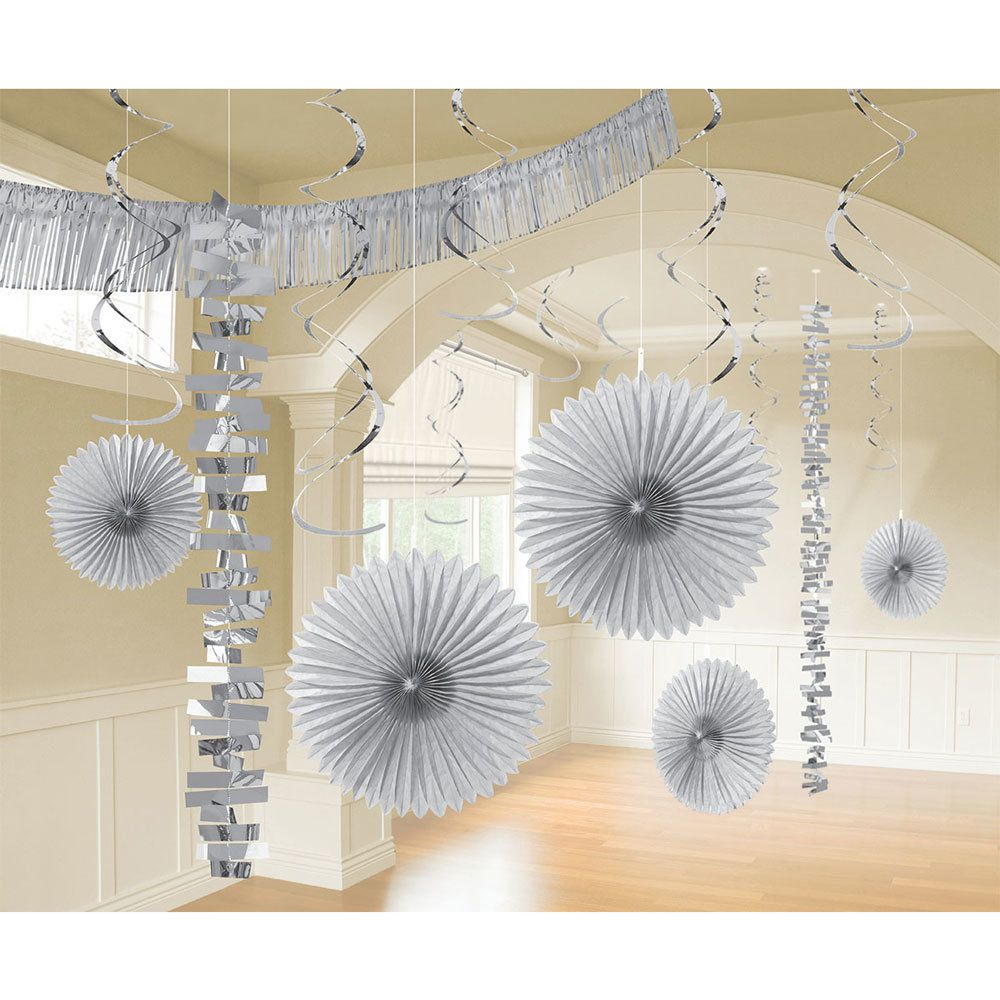 Silver Decoration Kit White Silver Decorations Tableware And