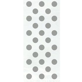 Silver Dots Cello Bags (20 pack)