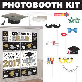 Silver & Gold Graduation Standard Photo Booth Kit