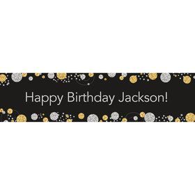 Silver & Gold Personalized Banner (Each)