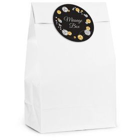 Silver & Gold Personalized Favor Bag (12 Pack)