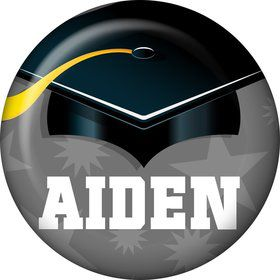 Silver Grad Personalized Mini Button (Each)