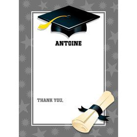 Silver Graduation Personalized Thank You (Each)