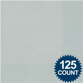 Silver Luncheon Napkins (125 Pack)