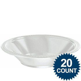 Silver Plastic 12oz. Bowls (20 Pack)
