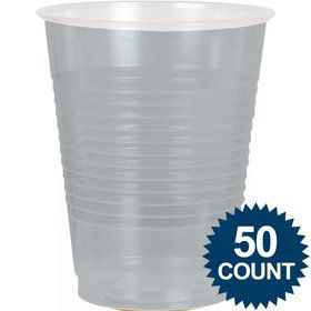 Silver Plastic 16Oz. Cup (50 Pack)
