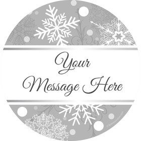 Silver Snowflake Personalized Stickers (Sheet of 12)