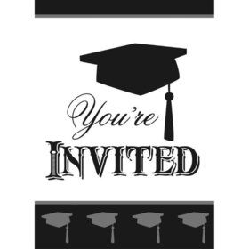 Simply Grad Invitations (8 Pack)