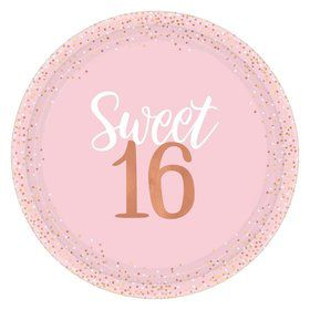 Sixteen Blush Lunch Plates (8)