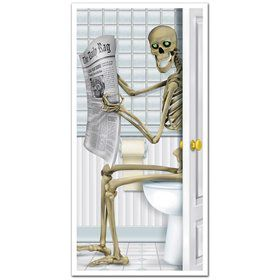 Skeleton Restroom Door Cover Decoration (Each)