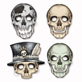 Skelton Paper Masks (4 Pack)