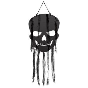 Skull Hanging Decoration with Gauze