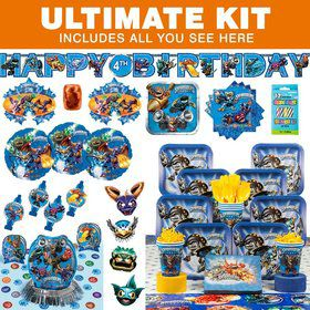 Skylanders Birthday Party Ultimate Tableware Kit Serves 8