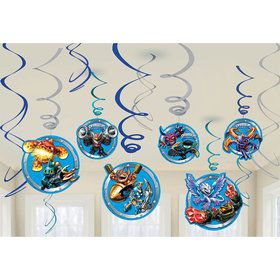 Skylanders Hanging Swirl Decorations (12 Pack)