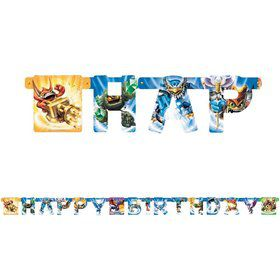 Skylanders Happy Birthday 7.5' Banner (Each)