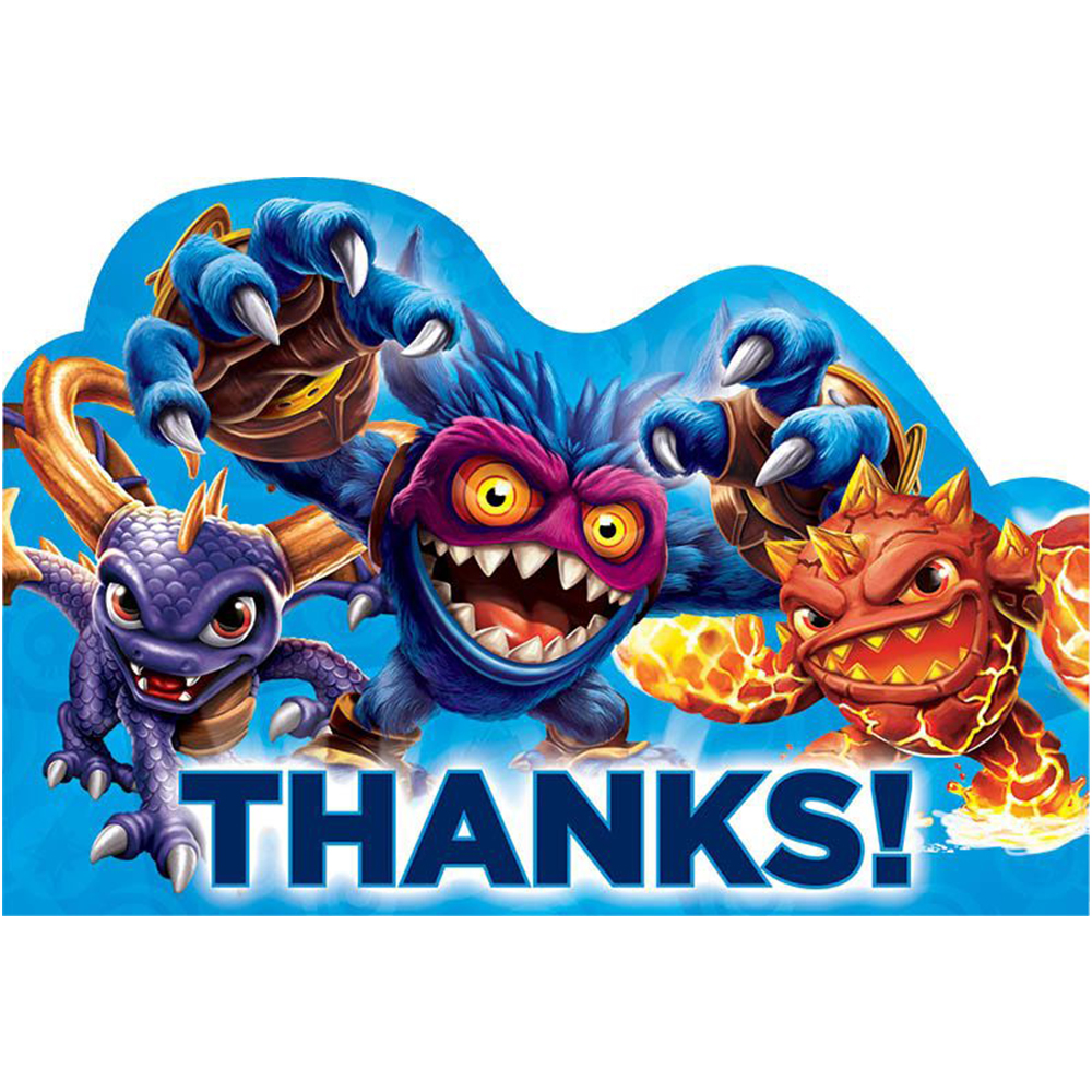 Skylanders Thank You Cards (8 Pack) - Party Supplies BB481328