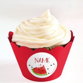 Slice of Summer Personalized Cupcake Wrappers (Set of 24)