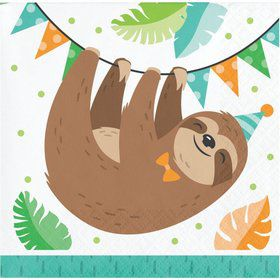 Sloth Beverage Napkins (16)