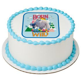 """Small Foot 7.5"""" Round Edible Cake Topper (Each)"""