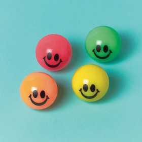 Smile 35mm Bounce Balls (12 Pack)