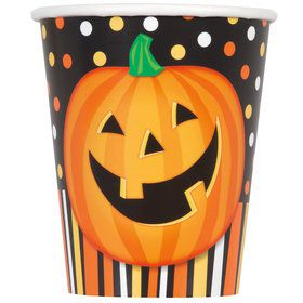 Smiling Pumpkin 9oz Cups (8 Count)